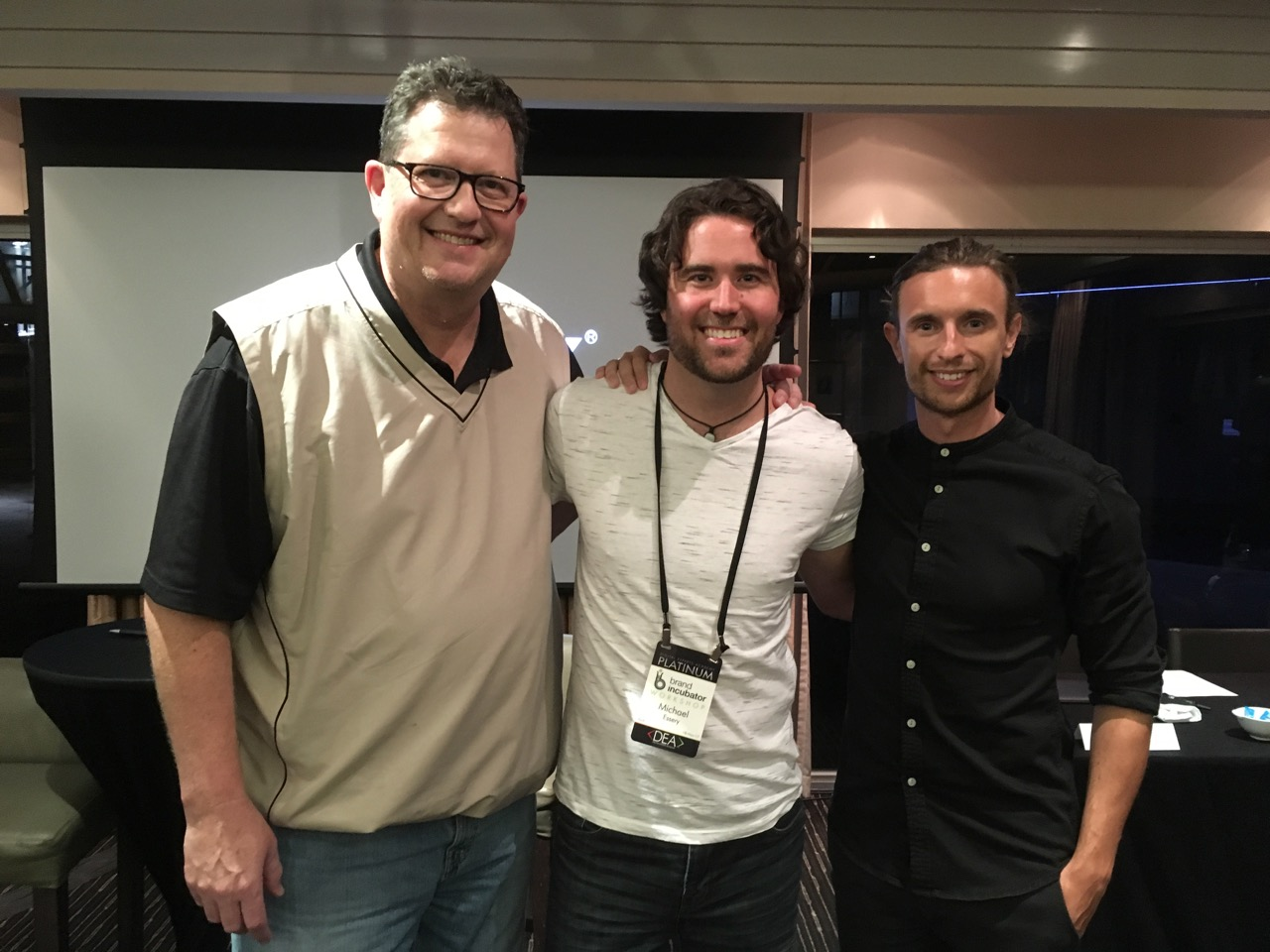 Me with John Jackson (founder of Pinpoint Your Purpose) and Alexander Eastman (founder of Tolado)